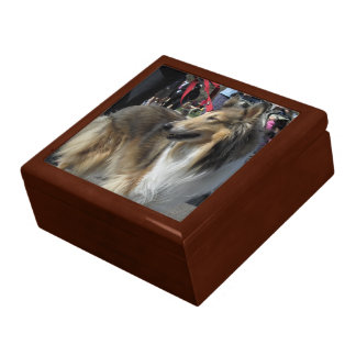 Rough Collie Gift Jewelry Box