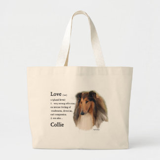 Rough Collie Gifts Large Tote Bag