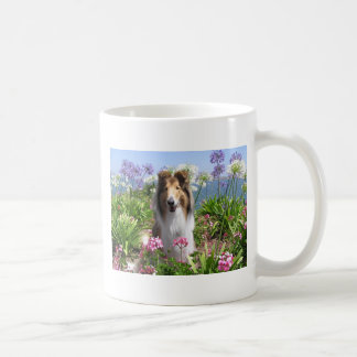 Rough Collie in Flowers Mug