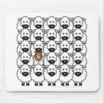 Rough Collie in the Sheep Mouse Pads