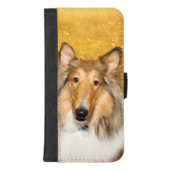 iPhone 8/7 Plus Wallet Case with Collie Phone Cases design