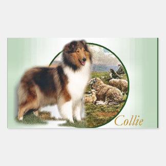 Rough Collie Keeper of the Sheep Rectangular Sticker