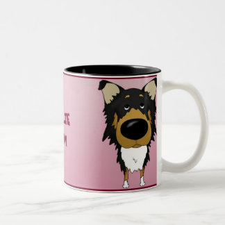Rough Collie Mom Two-Tone Coffee Mug