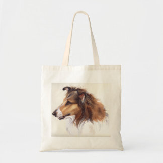 Rough Collie Painted in Watercolour Tote Bag
