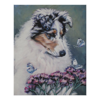 Rough Collie puppy Fine Art Print