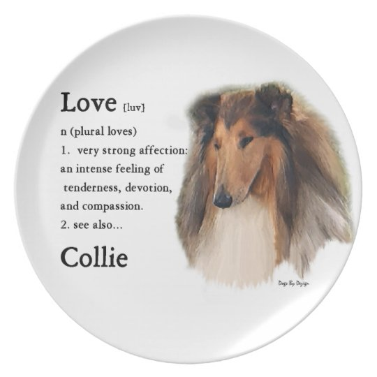 Rough Collie See Also Melamine Plate