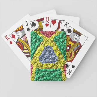 Rough colorful pattern poker cards