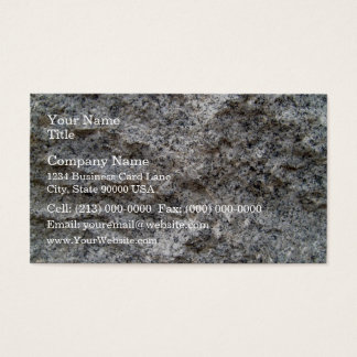 Rough Cut Granite Stone Texture Business Card