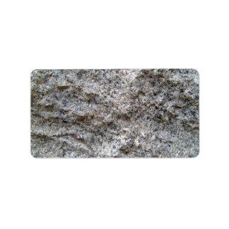 Rough Cut Granite Stone Texture Label