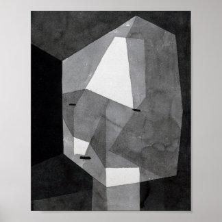 Rough Cut Head : Paul Klee 1935 Poster