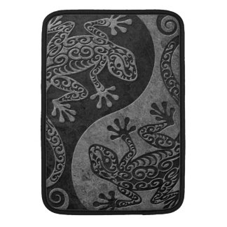 Rough Dark Stone Yin Yang Geckos MacBook Air Sleeves