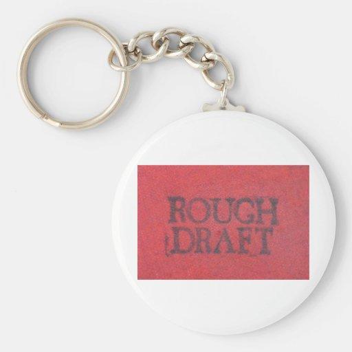 Rough Draft Basic Round Button Keychain