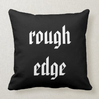 'Rough Edge' Polyester Throw Pillow