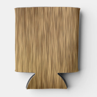 Rough Faux Wood Background in Natural Color Can Cooler