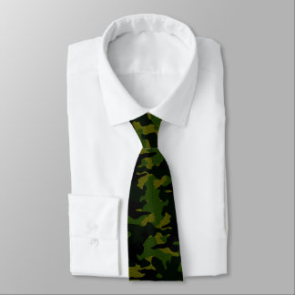 Rough Green Camo Military Camouflage Mens Neck Tie