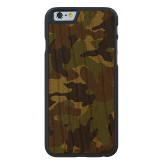 Rough Green Camo Military Wood Grain iPhone 6 Case Carved® Walnut iPhone 6 Bumper
