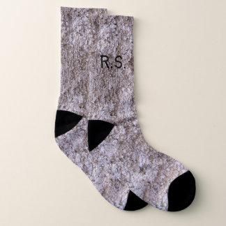 Rough Grey Beton with Monogram Socks