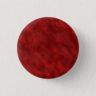 Rough Grungy Velvet Texture: Deep Blood Red Pinback Button