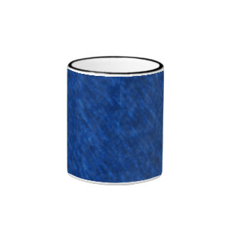 Rough Grungy Velvet Texture: Majestic Royal Blue Ringer Mug