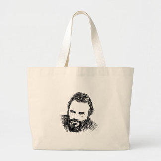 Rough Ink Sketch of Hitch Large Tote Bag