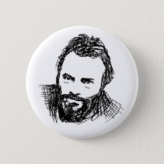 Rough Ink Sketch of Hitch Pinback Button