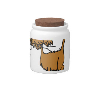 rough kitty cat candy jar