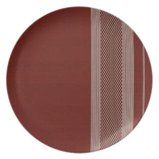rough material sample dinner plate