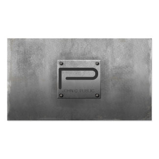 Rough Metal Plate Gray Double-Sided Standard Business Cards (Pack Of 100)