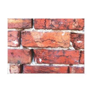 Rough old bricks and mortar canvas