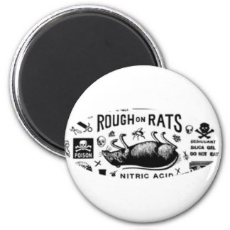 Rough On Rats Refrigerator Magnets