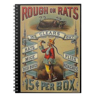rough on rats spiral note book