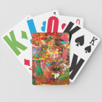 Rough Paint Bicycle Playing Cards