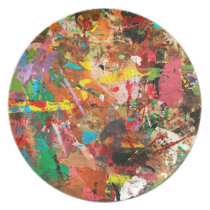 Rough Paint Dinner Plate