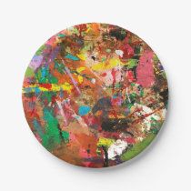 Rough Paint Paper Plate