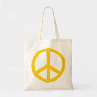Rough Peace Symbol - Amber Tote Bag