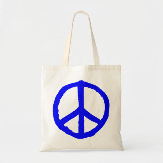 Rough Peace Symbol - Blue Tote Bag