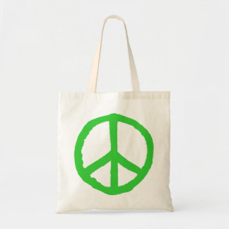 Rough Peace Symbol - Green Tote Bag