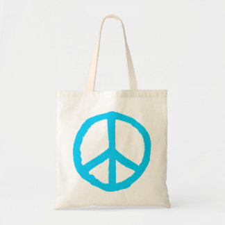 Rough Peace Symbol - Light Blue Tote Bag