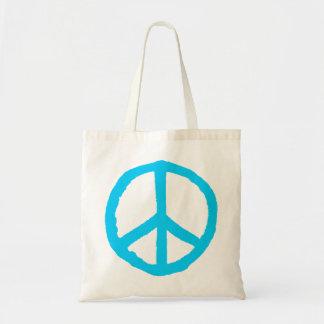 Rough Peace Symbol - Light Blue Tote Bag