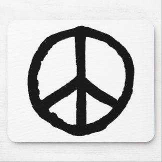 Rough Peace Symbol Mouse Pad