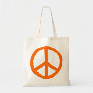 Rough Peace Symbol - Orange Tote Bag