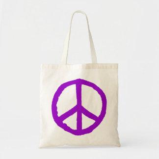 Rough Peace Symbol - Purple Tote Bag