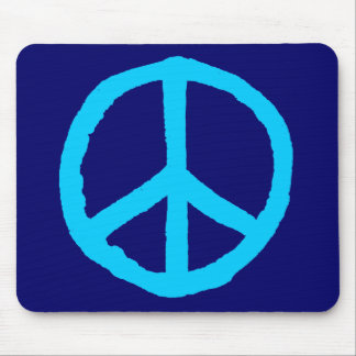 Rough Peace Symbol - Shades of Blue II Mouse Pads