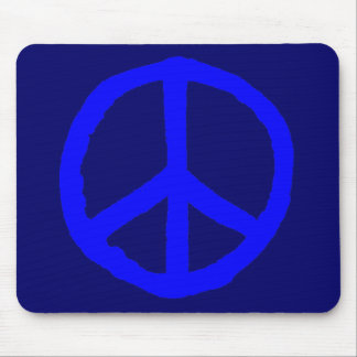 Rough Peace Symbol - Shades of Blue Mousepads