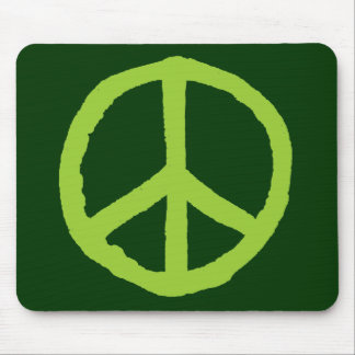 Rough Peace Symbol - Shades of Green II Mouse Pads