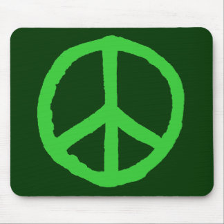 Rough Peace Symbol - Shades of Green Mousepads