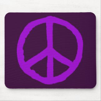 Rough Peace Symbol - Shades of Purple Mouse Pad