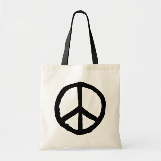 Rough Peace Symbol Tote Bag