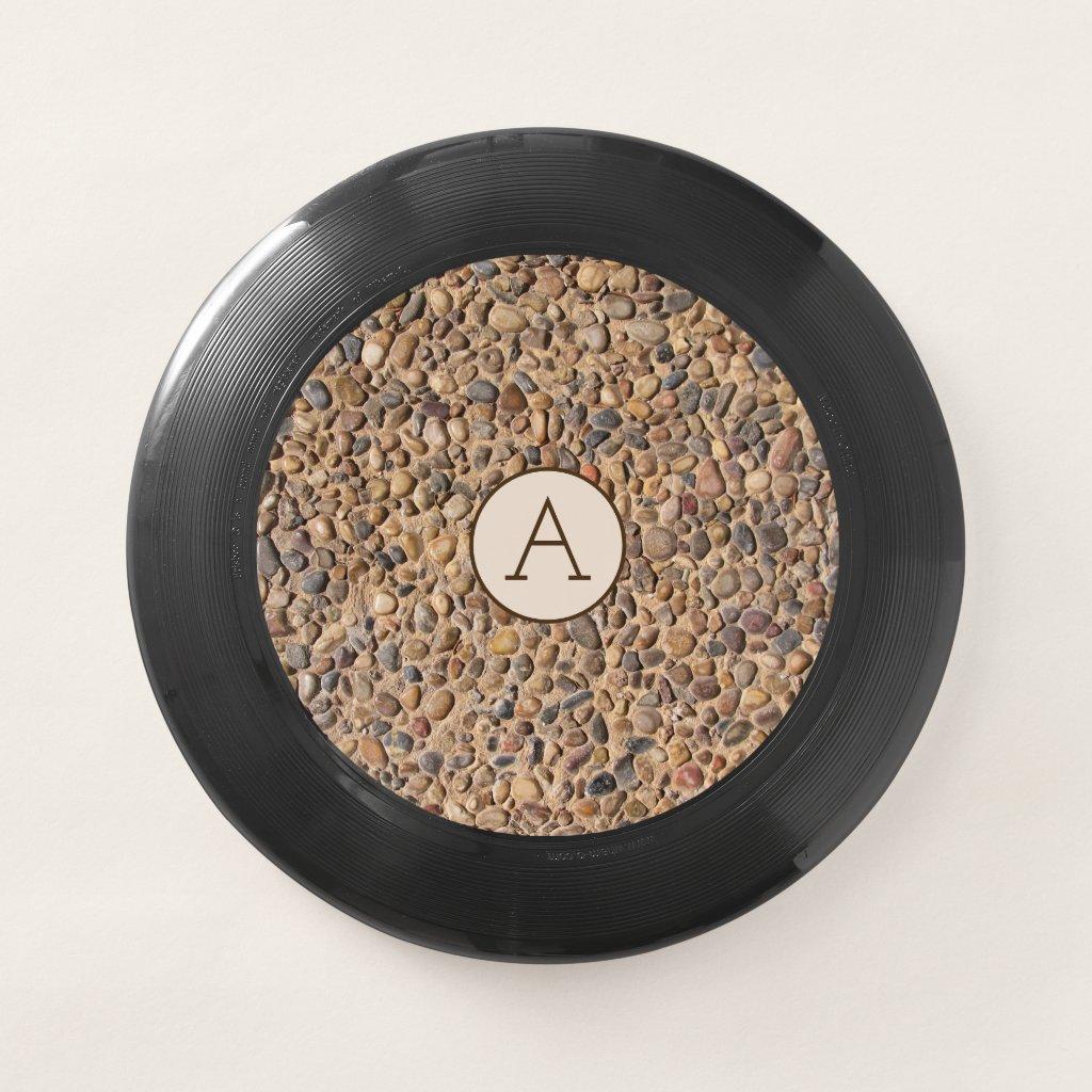 Rough Pebble Stones Photo with Monogram