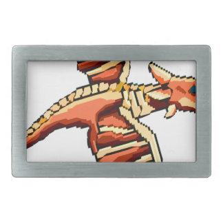 Rough Pixel Dragon Rectangular Belt Buckle